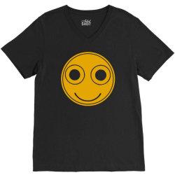 funny smiley face V-Neck Tee | Artistshot