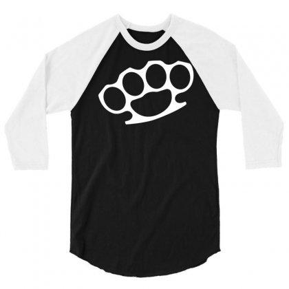 Brass Knuckles 3/4 Sleeve Shirt Designed By Mdk Art