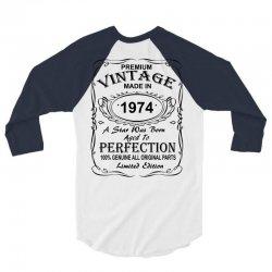 Birthday Gift Ideas for Men and Women was born 1974 3/4 Sleeve Shirt | Artistshot