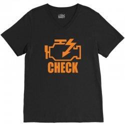 check engine V-Neck Tee | Artistshot