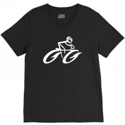 cyclist road bike biking V-Neck Tee | Artistshot