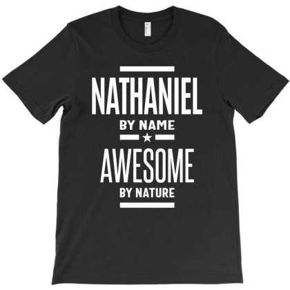 Nathaniel Personalized Name Birthday Gift T-shirt Designed By Cidolopez