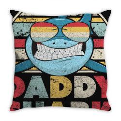 daddy shark shirt, gift for dad t shirt Throw Pillow | Artistshot
