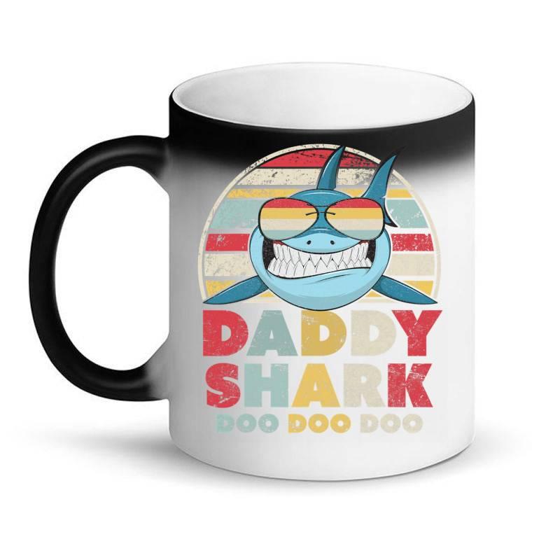 Daddy Shark Shirt, Gift For Dad T Shirt Magic Mug   Artistshot