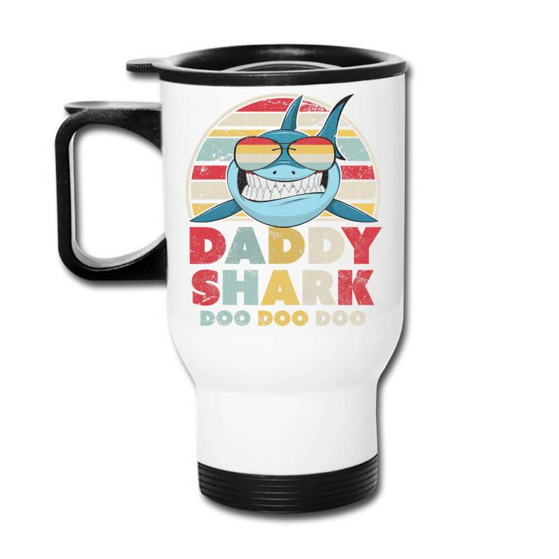 Daddy Shark Shirt, Gift For Dad T Shirt Travel Mug | Artistshot