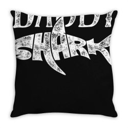 daddy shark t shirt fathers day gifts family matching dad Throw Pillow | Artistshot