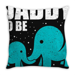 daddy to be elephant dad father pregnancy baby love shirt Throw Pillow | Artistshot