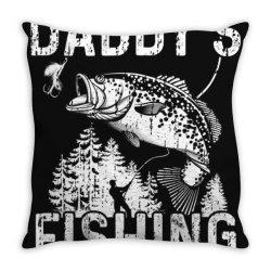 daddy's fishing buddy shirt   fisher.man fishing with dad Throw Pillow | Artistshot