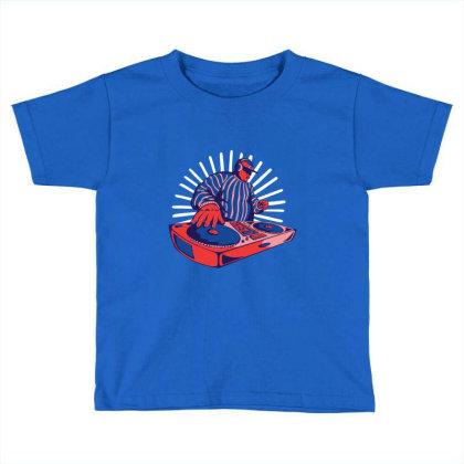 Duotone Dj Toddler T-shirt Designed By Jonz