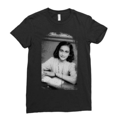 Annefrank Ladies Fitted T-shirt Designed By Turquoise