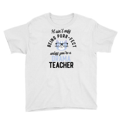 Drama Teacher Cat Gifts For Cat Lovers   It Ain't Easy Being Purr Fect Youth Tee Designed By Nisart