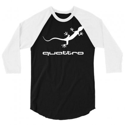 Gecko Audi Quattro 3/4 Sleeve Shirt Designed By Mdk Art