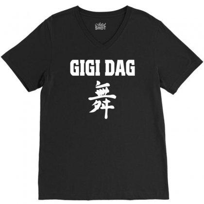 Gigi D Agostino Music Deejay Disco V-neck Tee Designed By Mdk Art