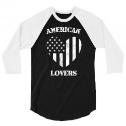 american lovers 3/4 Sleeve Shirt   Artistshot