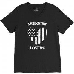 american lovers V-Neck Tee   Artistshot