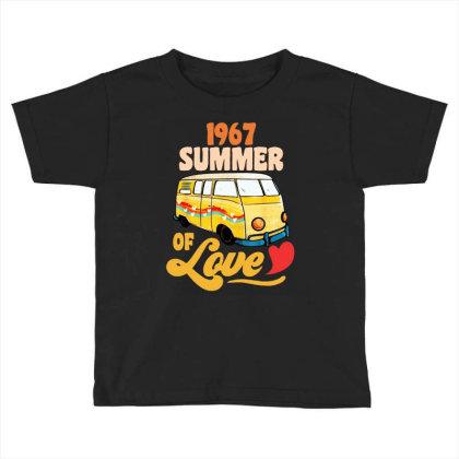 1967 Summer Of Love Vintage Toddler T-shirt Designed By Dongdot Apparel