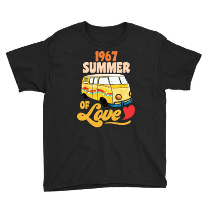 1967 Summer Of Love Vintage Youth Tee Designed By Dongdot Apparel