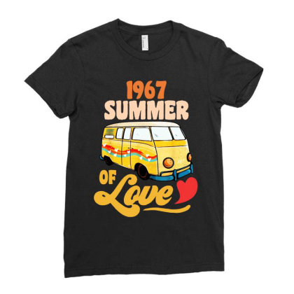 1967 Summer Of Love Vintage Ladies Fitted T-shirt Designed By Dongdot Apparel