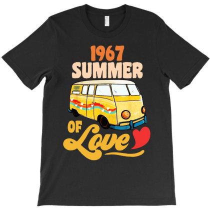 1967 Summer Of Love Vintage T-shirt Designed By Dongdot Apparel