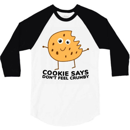Chip The Cookie 3/4 Sleeve Shirt Designed By Jurdex Tees
