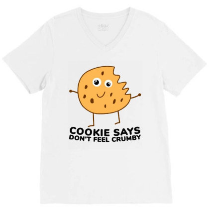 Chip The Cookie V-neck Tee Designed By Jurdex Tees