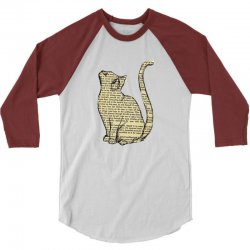 cats text 3/4 Sleeve Shirt | Artistshot