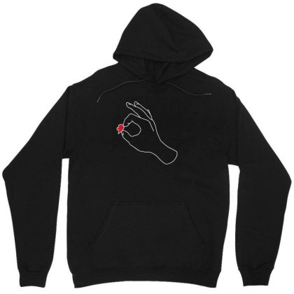 Couple Holding Heart (right) Unisex Hoodie