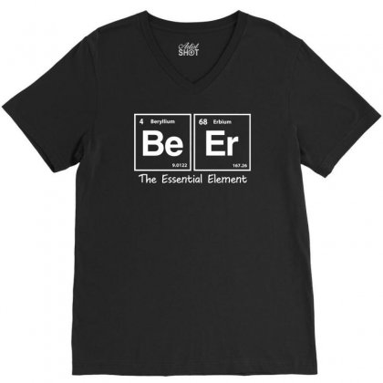 Elements Of Beer V-neck Tee Designed By Gematees