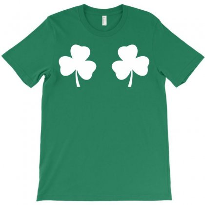Shamrock Boobs T-shirt Designed By Tshiart
