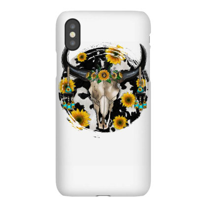 Bull Skull With Sunflower Iphonex Case Designed By Badaudesign