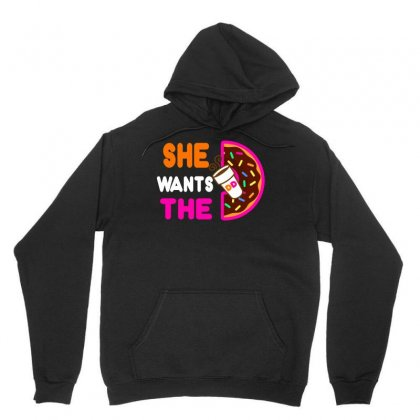 She Wants The D - Dunkin Donuts Unisex Hoodie Designed By Tabby
