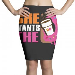 She Wants The D Dunkin Donuts Pencil Skirts   Artistshot