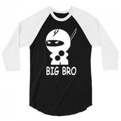 ninja big brother 3/4 Sleeve Shirt | Artistshot