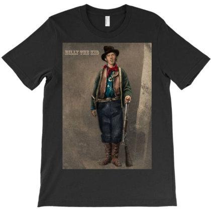 Billy The Kid T-shirt Designed By Barrettydelgado