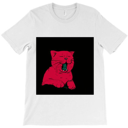 Red Cat T-shirt Designed By Nur