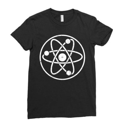 Atomic Atom Symbol Ladies Fitted T-shirt Designed By Vetor Total