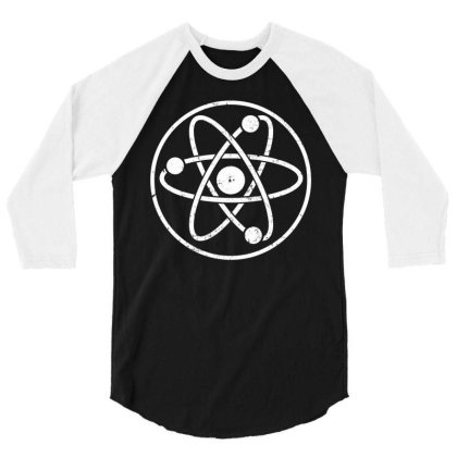 Atomic Atom Symbol 3/4 Sleeve Shirt Designed By Vetor Total