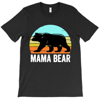 Mama Bear T-shirt Designed By Jurdex Tees