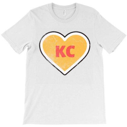 I Love Kansas City Heart Kc Football Vintage T-shirt Designed By Jurdex Tees
