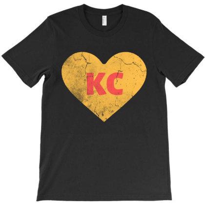 I Love Kansas City Heart Kc Football T-shirt Designed By Jurdex Tees