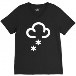 snow weather symbol V-Neck Tee | Artistshot