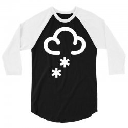 snow weather symbol 3/4 Sleeve Shirt | Artistshot