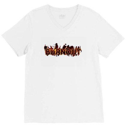 Burnout V-neck Tee Designed By Tagshirts