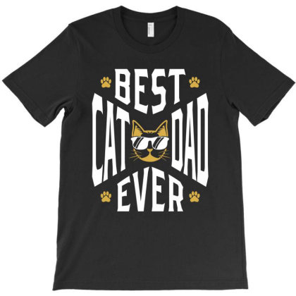 Best Cat Dad Ever | Father's Day T-shirt Designed By Cidolopez