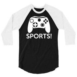 sports video games 3/4 Sleeve Shirt   Artistshot