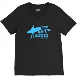 surf board surfer australia save a wave ride a surfer ocean V-Neck Tee | Artistshot