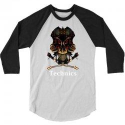 technics dj skull 3/4 Sleeve Shirt | Artistshot