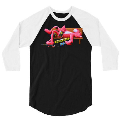 Crime Scene 3/4 Sleeve Shirt Designed By Tagshirts