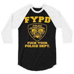 funny hilarious police dept 3/4 Sleeve Shirt | Artistshot