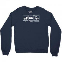 eat sleep engineer Crewneck Sweatshirt | Artistshot